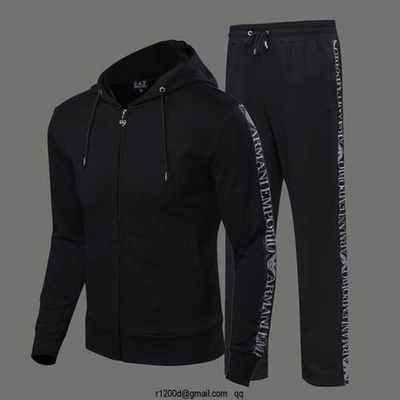 Survetement a la mode ea7 homme jogging gris coton homme survetement homme de luxe - Survetement a la mode ...