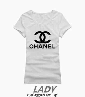 d5acec43a9f t-shirt chanel femme blanc