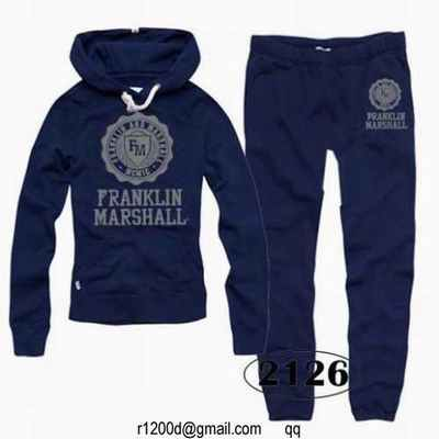 jogging franklin marshall bleu ciel survetement femme en coton survetement marque champion. Black Bedroom Furniture Sets. Home Design Ideas